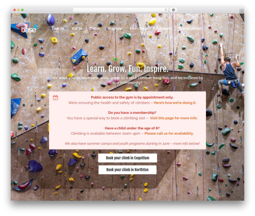 Revolution gym WordPress theme - climbbase5.com