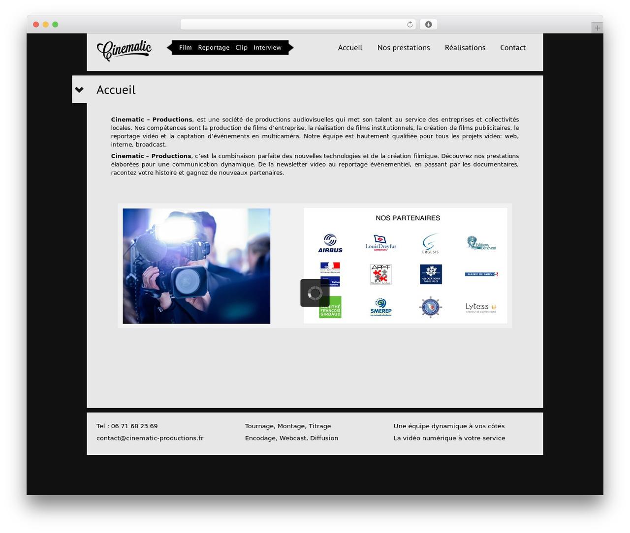 WordPress theme Black Label - cinematic-productions.fr