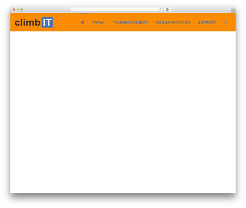 WordPress theme Fluida - climbit.ch