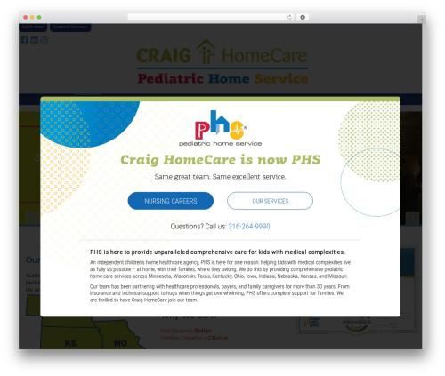 WP theme X - craighomecare.com