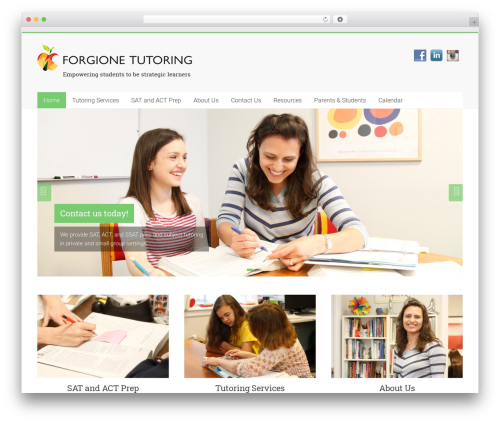 Accelerate WordPress page template - forgionetutoring.com