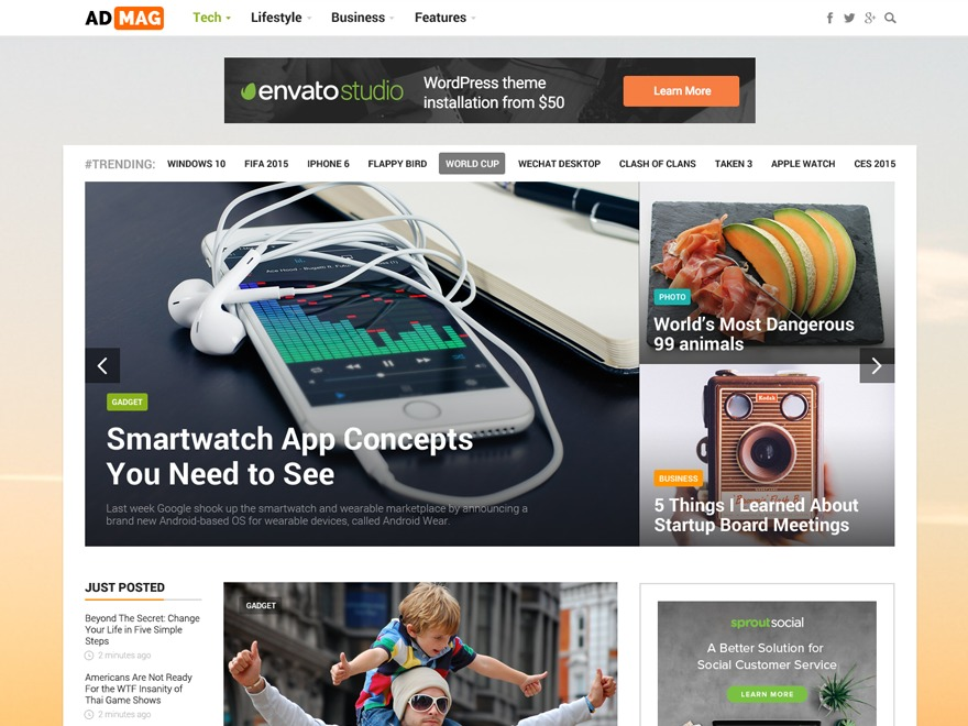 ADMAG WordPress news template