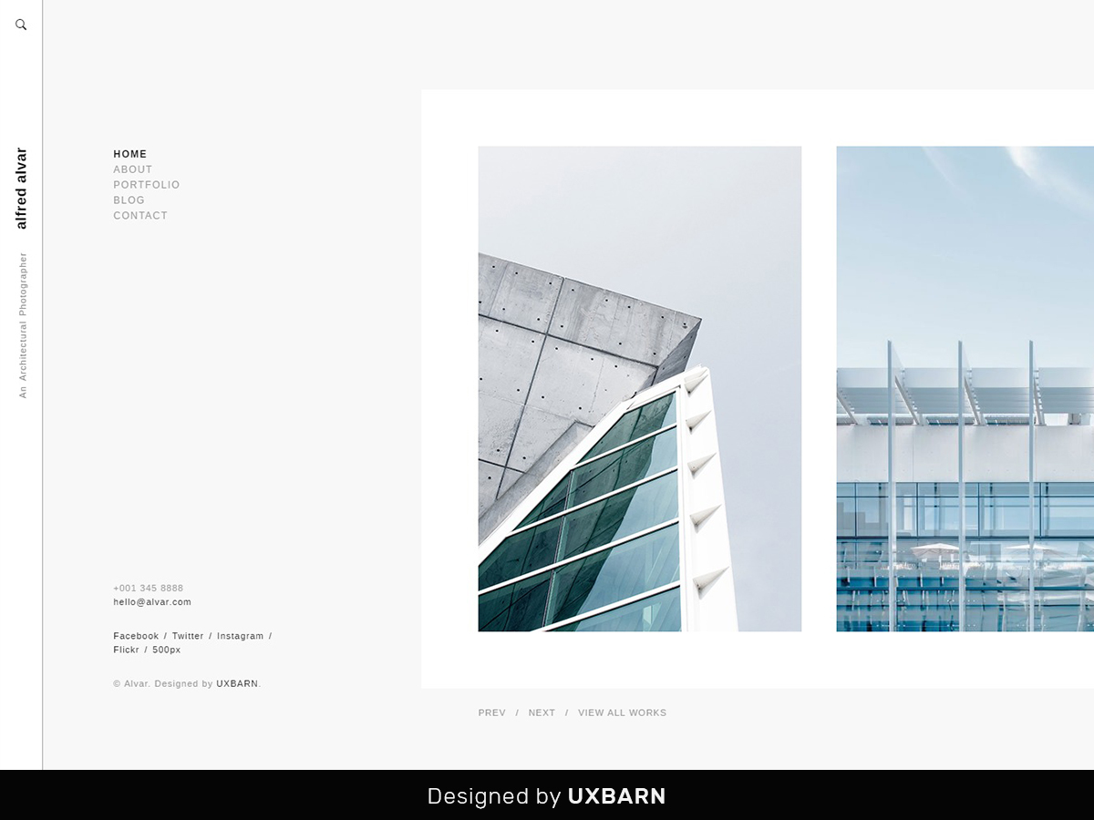 Alvar theme WordPress portfolio