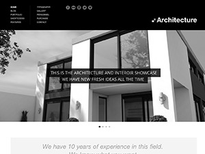 Architecture top WordPress theme