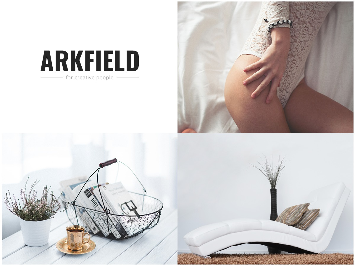 Arkfield personal blog WordPress theme