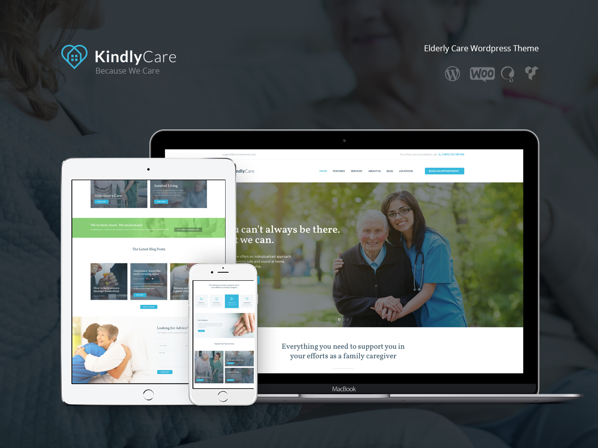 Best WordPress template KindlyCare