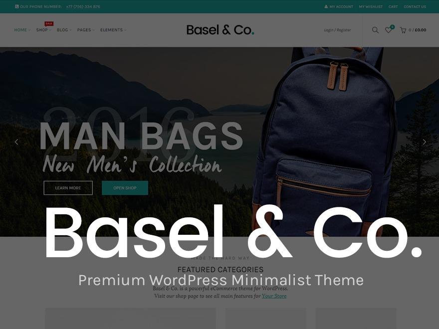 Best WordPress theme Basel | Shared By Themes24x7.com