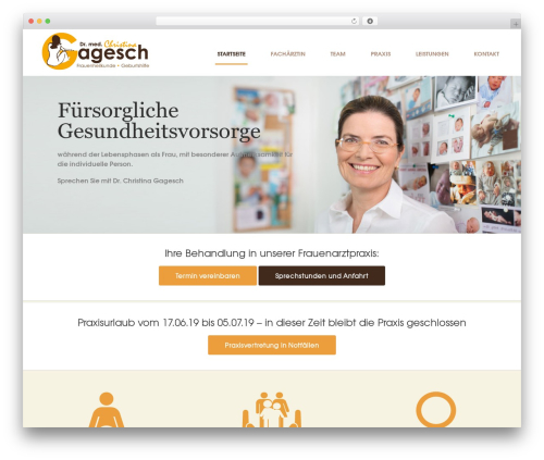 Best WordPress theme Sensica - frauenaerztin-gagesch.de