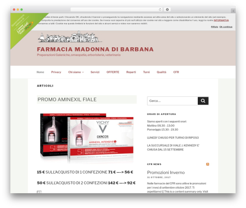 Best WordPress theme Twenty Seventeen - farmacia-madonnadibarbana.com/it