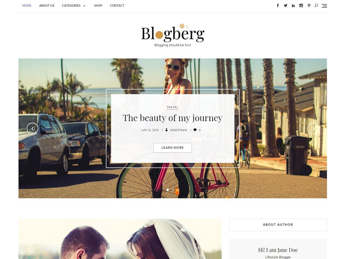 Blogberg WordPress ecommerce template