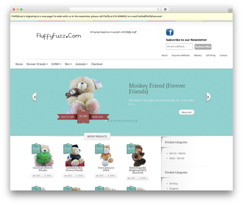 Boutique theme WordPress - fluffyfuzz.com