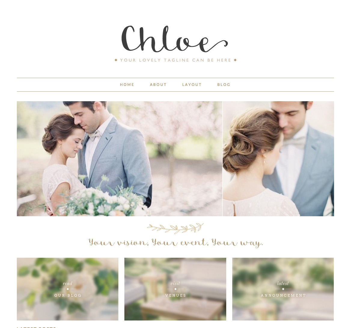 Chloe WordPress website template