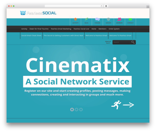 Cinematix WordPress page template - fearless.social
