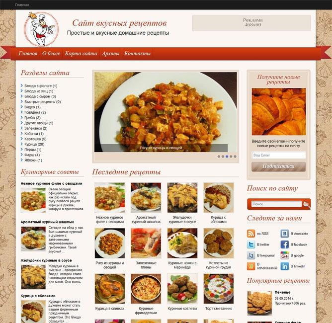 CookingSecrets WordPress theme