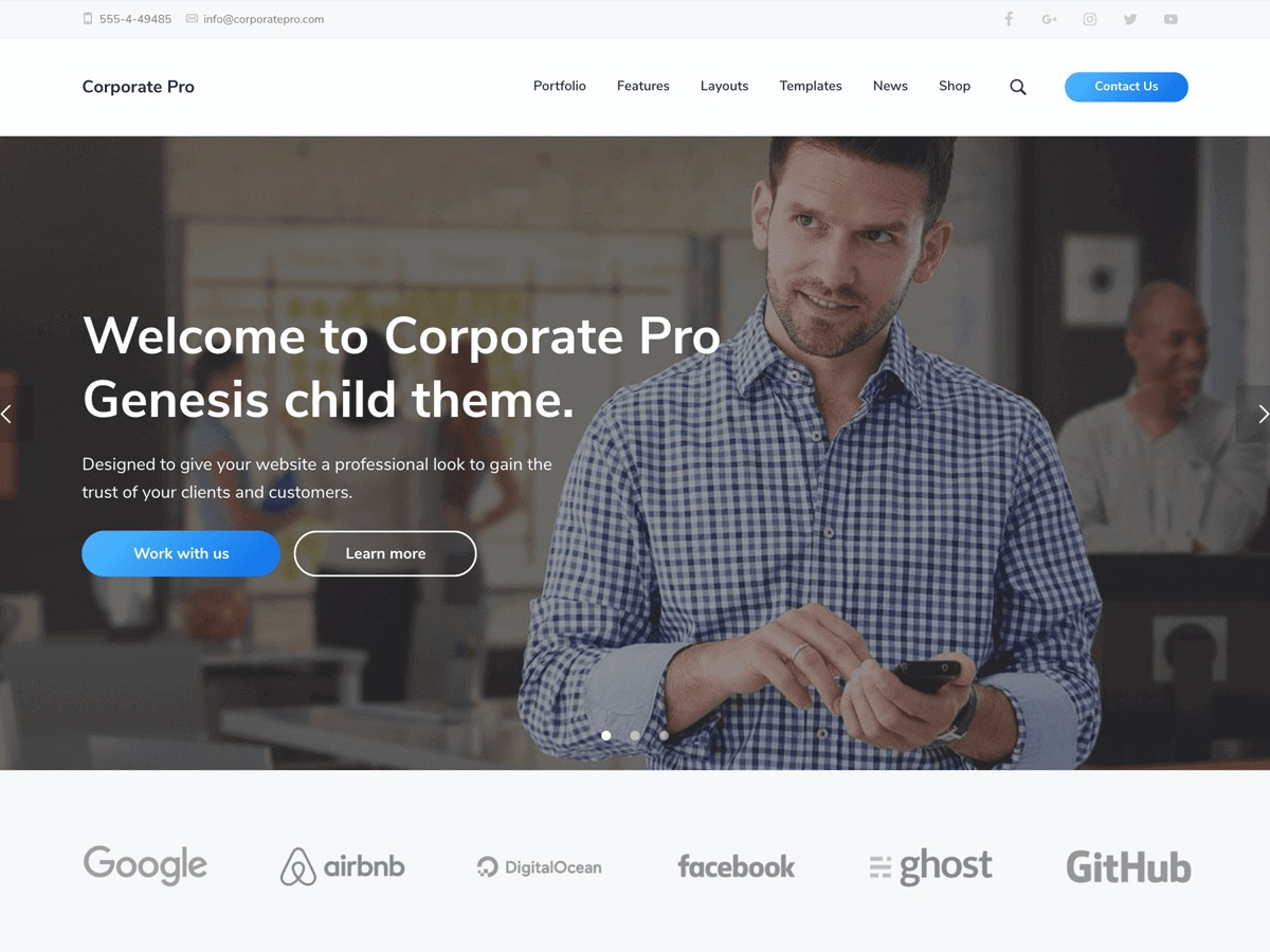Corporate Pro WordPress shopping theme