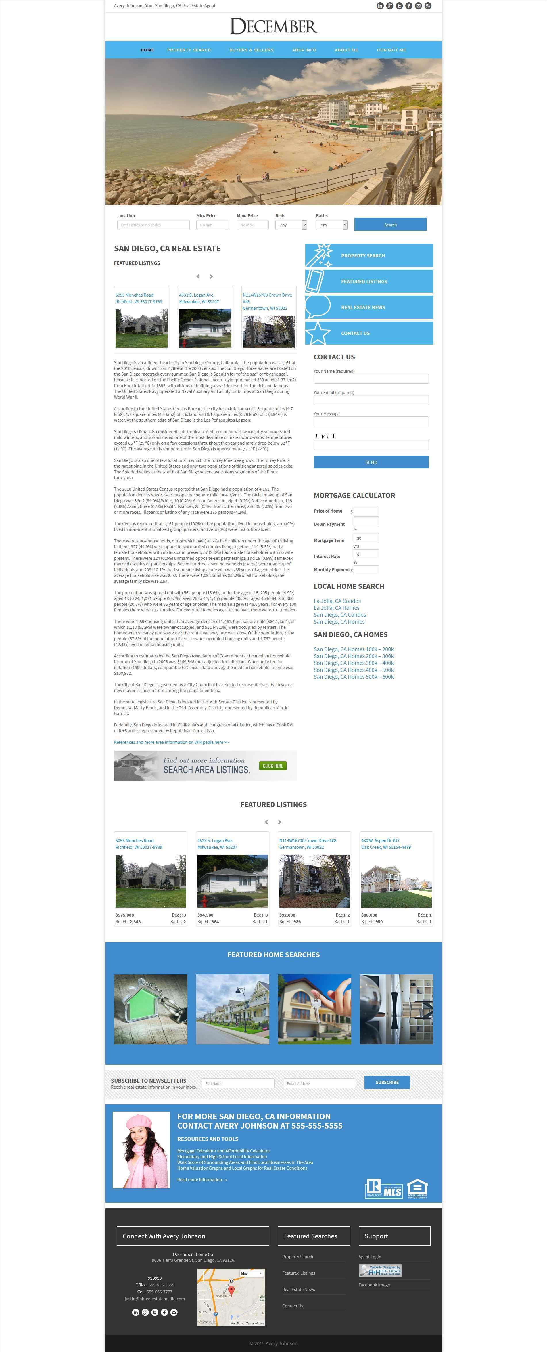 December Theme WordPress real estate
