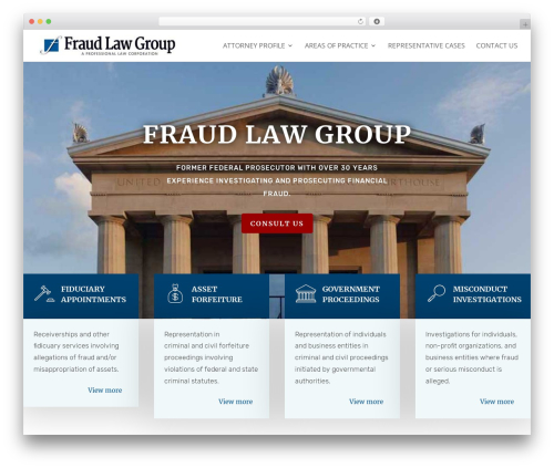 Divi WordPress template for business - fraudlawgroup.com