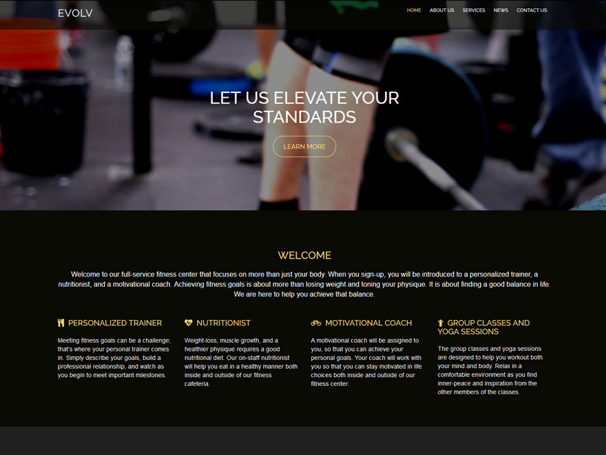 Evolv WordPress theme