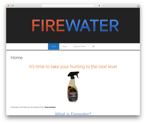 Exhibit free WP theme - firewateroutdoors.com
