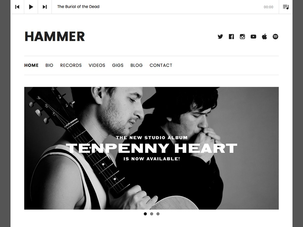Hammer WordPress blog theme