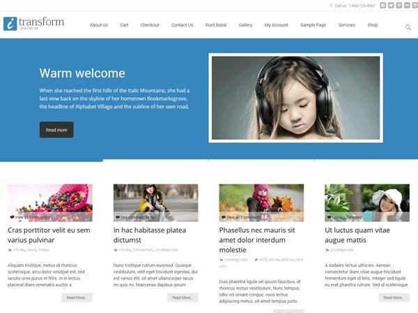 i-transform WordPress template