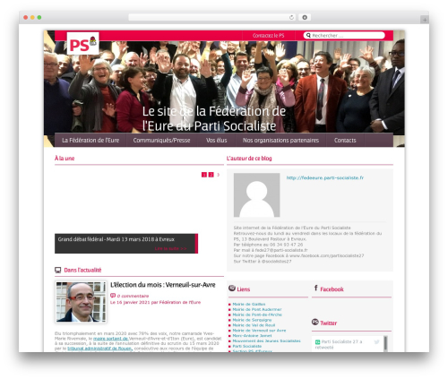 Magazine WordPress news template - fedeeure.parti-socialiste.fr