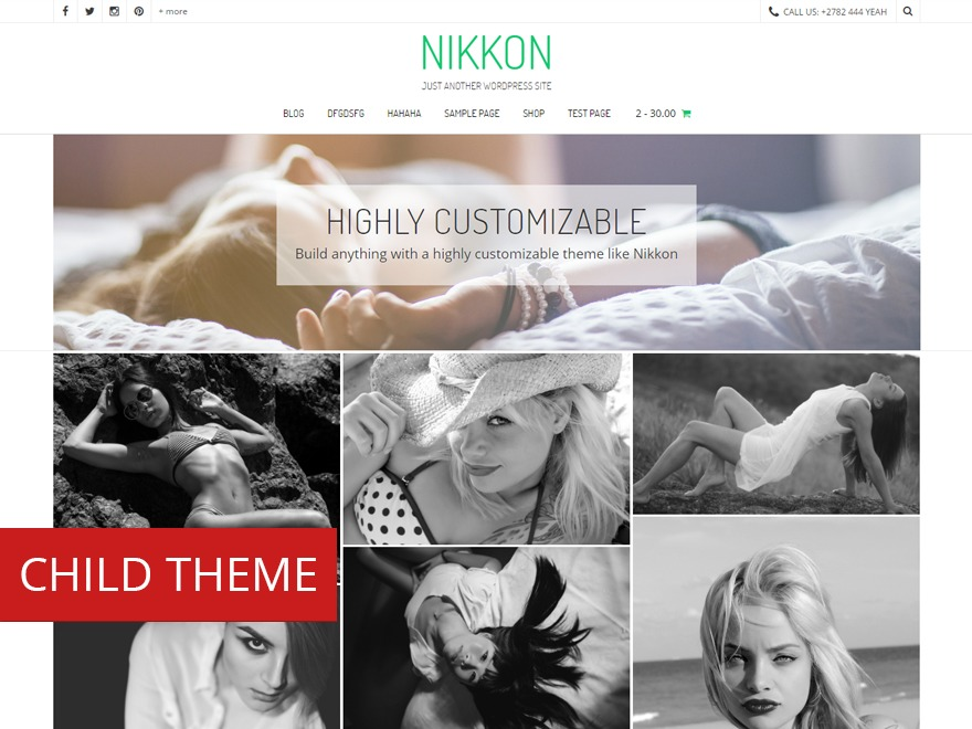 Nikkon Child template WordPress