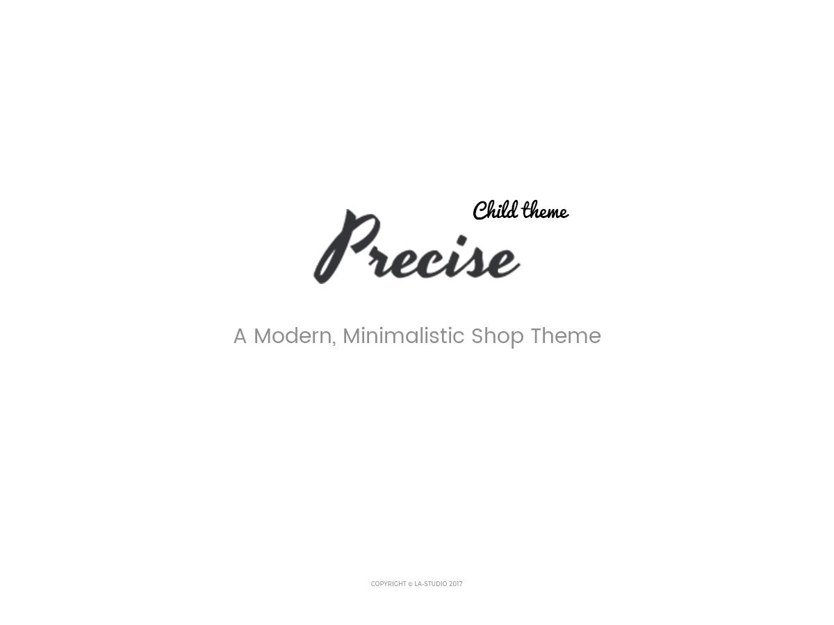 Precise Child WordPress theme
