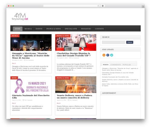 Pressimo newspaper WordPress theme - foryoumag.net