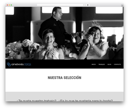 SKT White WordPress page template - fotografodebodas.cineboda.com