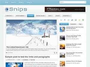 Snips WordPress theme