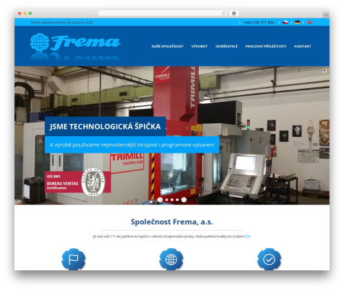 Sparse template WordPress - frema.cz
