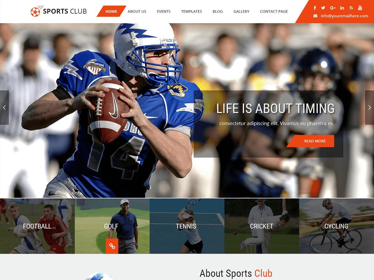Sports Club WordPress blog template