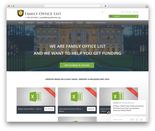 SQUARECODE-WP WordPress website template - familyofficelist.org