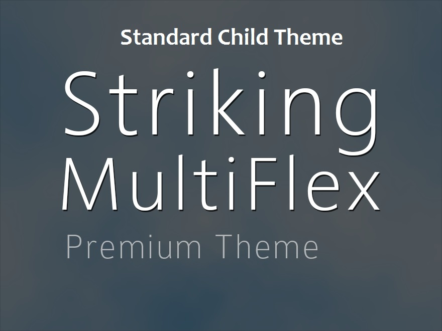 Striking MultiFlex Standard Child Theme best WooCommerce theme