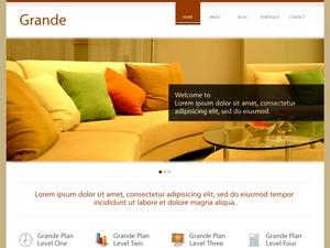 WordPress template Grande