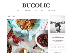WordPress theme bucolic