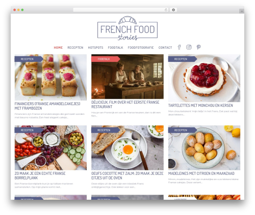 WordPress theme Pictorico - frenchfoodstories.com