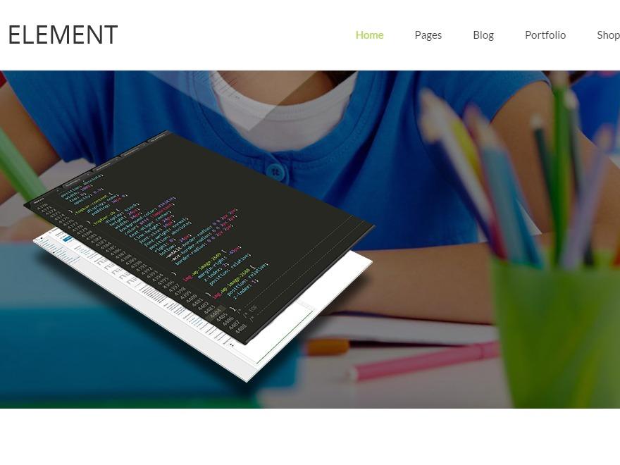 WordPress website template Big Element