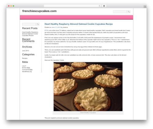 WP theme For Women-Female - frenchiescupcakes.com