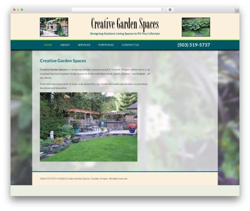 Creative Garden Spaces garden WordPress theme - creativegardenspacesnw.com
