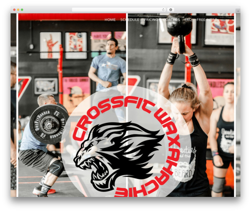 Elite WordPress page template - crossfitwaxahachie.com