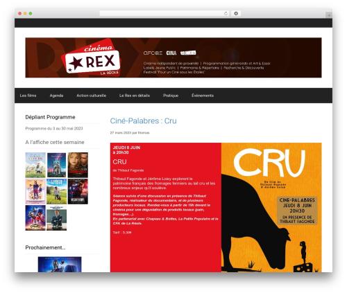 Forefront pour L'Ecran Réolais WordPress theme - cinerex-lareole.com