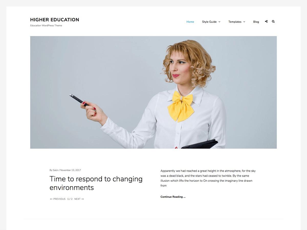 Higher Education WordPress magazine theme