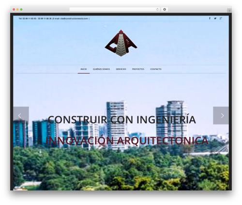Novalumen template WordPress - construccionesciia.com