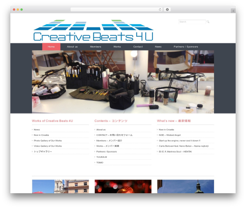Ruby Tuesday theme WordPress - creativebeats4u.com