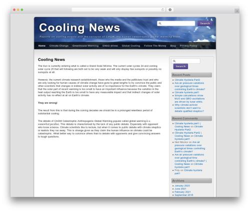 Third Style WordPress news template - coolingnews.com