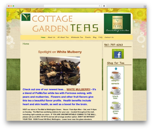 Weaver WordPress store theme - cottagegardenteas.com