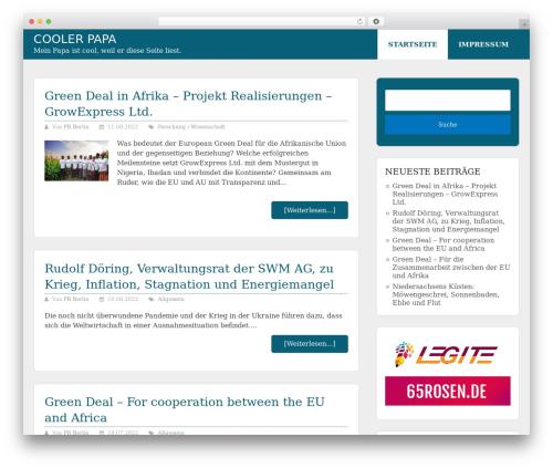 WordPress theme Allgemein Theme - Schema Lite Child - cooler-papa.de