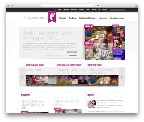 WordPress theme Delicate News - coderbaby.com